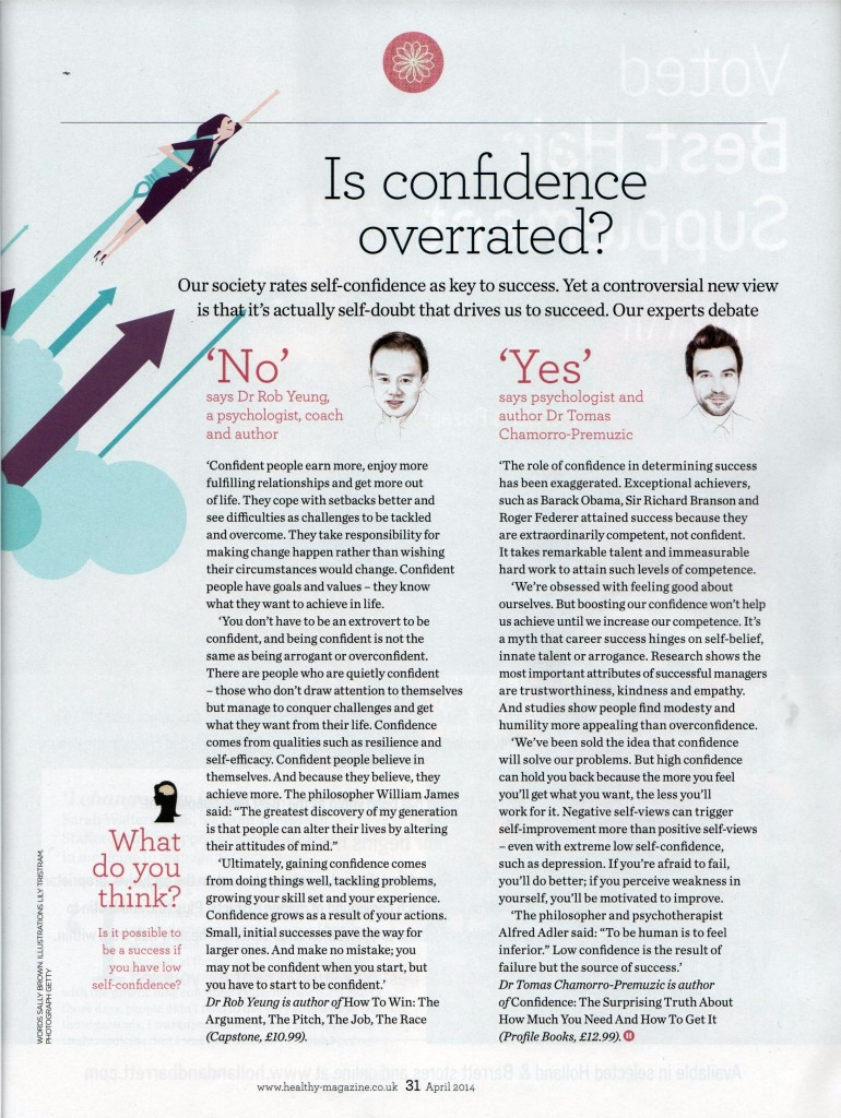 Healthy magazine - confidence 201404 cropped