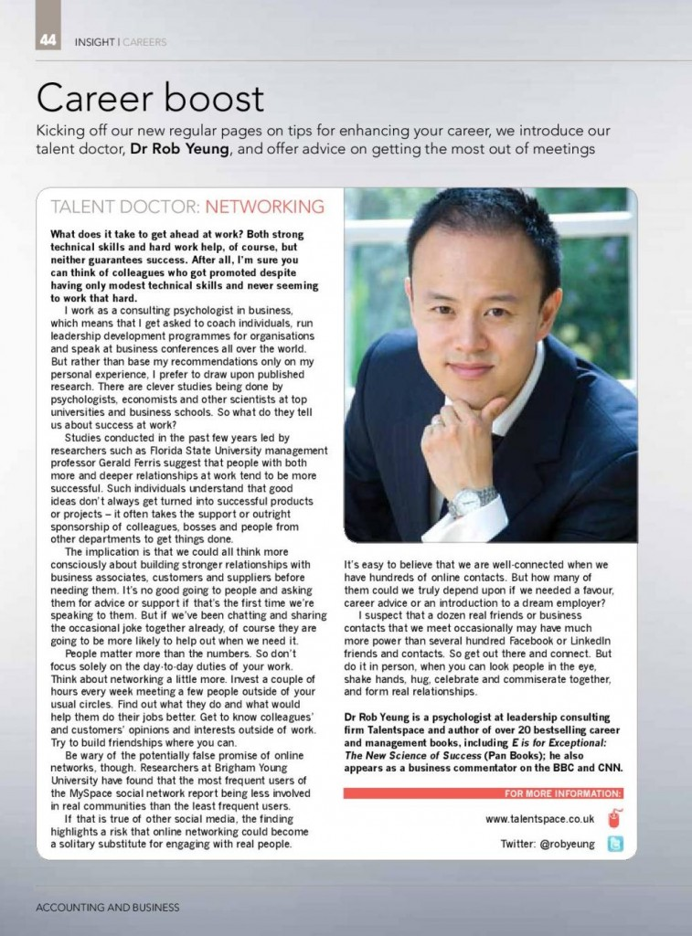 Dr Rob Yeung on networking