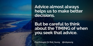20151109 Advice almost always helps us to make better decisions
