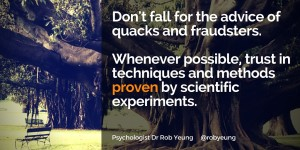 20160201 Don't fall for the advice of quacks and fraudsters