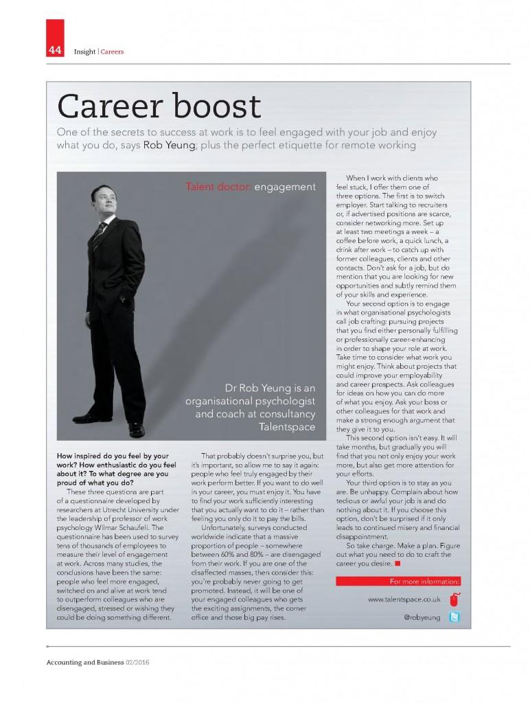 Talent Doctor 201601 job crafting