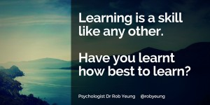 20160307 Learning is a skill like any other