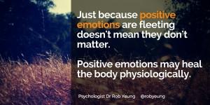 Positive emotions matter
